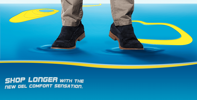 Shop longer with the new Gel comfort sensation